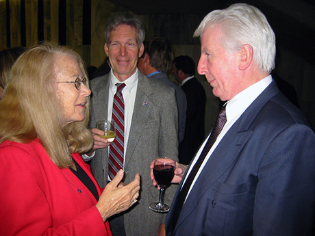 Connie with husband Dr Charles Sneiderman and Radio New Zealand chairman Richard Griffin