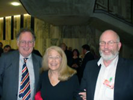 Connie with NZ Book Council ceo Lincoln Gould and Fairfax political columnist Vernon Small