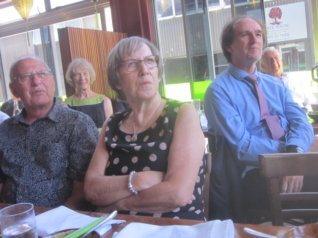 Central Districts visitors Brian and Carole Jackson with Martin Jenkins