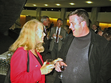 Connie with Fairfax columnist and Radio Live host Sean Plunke